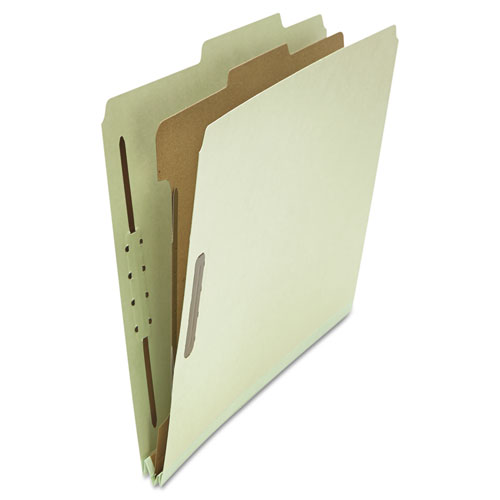 FOUR-, SIX- AND EIGHT-SECTION CLASSIFICATION FOLDERS, 1 DIVIDER, LETTER SIZE, GRAY-GREEN, 10/BOX