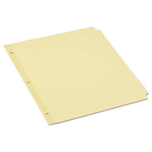 SELF-TAB INDEX DIVIDERS, 8-TAB, 11 X 8.5, BUFF, 24 SETS