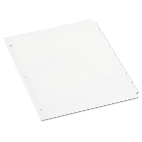 SELF-TAB INDEX DIVIDERS, 8-TAB, 11 X 8.5, WHITE, 24 SETS