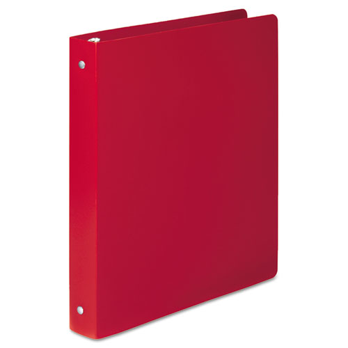 Wilsonjnes Accohide Poly Round Ring Binder, 35-pt. Cover, 1 Cap, Executive Red