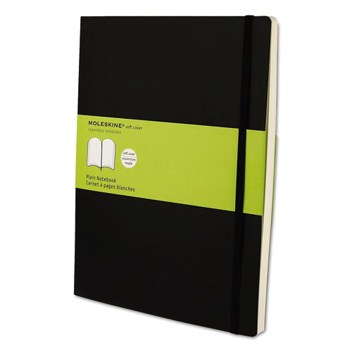 CLASSIC SOFTCOVER NOTEBOOK, 1 SUBJECT, UNRULED, BLACK COVER, 10 X 7.5, 192 SHEETS