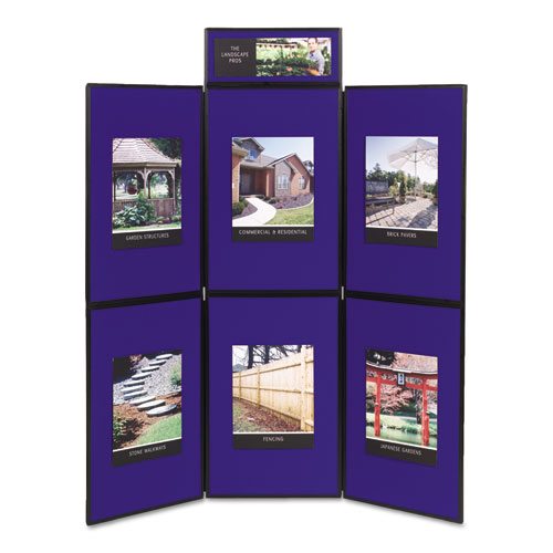 Show-It! Display System, 72 X 72, Blue/gray Surface, Black Frame