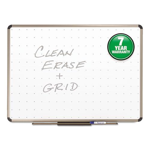 Prestige Total Erase Whiteboard, 48 X 36, White Surface, Euro Titanium Frame