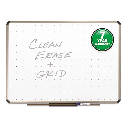 Prestige Total Erase Whiteboard, 96 X 48, White Surface, Euro Titanium Frame