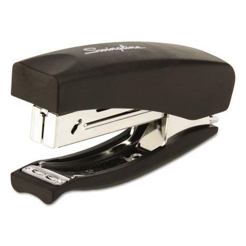 Soft Grip Half Strip Hand Stapler, 20-Sheet Capacity, Black
