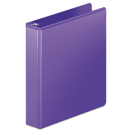 HEAVY-DUTY D-RING VIEW BINDER WITH EXTRA-DURABLE HINGE, 3 RINGS, 1.5