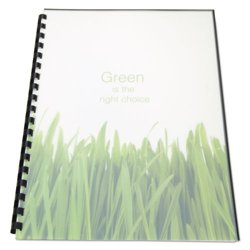 Image for 100% RECYCLED POLY BINDING COVER, 11 X 8 1/2, FROST, 25/PACK