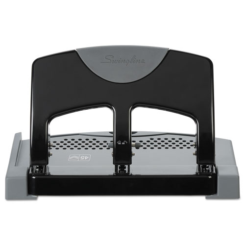 45-Sheet Smarttouch Three-Hole Punch, 9/32
