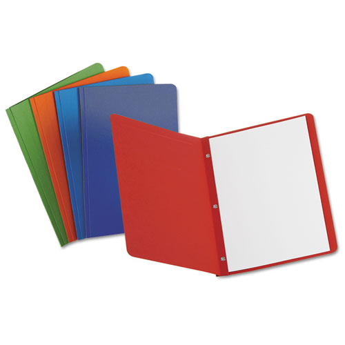 Report Cover, 3 Fasteners, Panel And Border Cover, Assorted Colors, 25/box