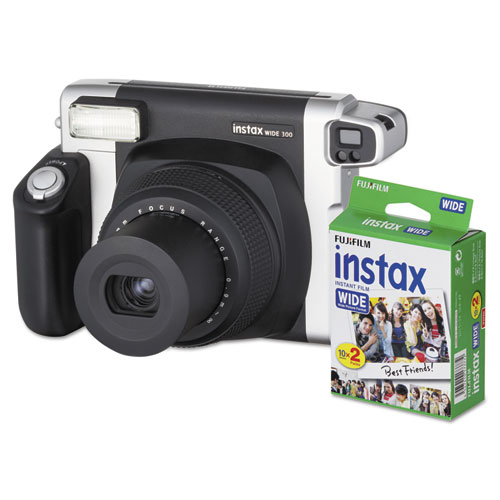 Image for Instax Wide 300 Camera Bundle, 16 Mp, Auto Focus, Black