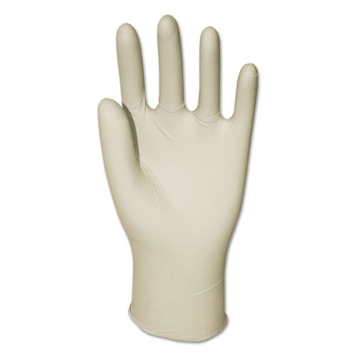 Latex General-Purpose Gloves, Powder-Free, Natural, Medium, 4.4 Mil, 1000/carton