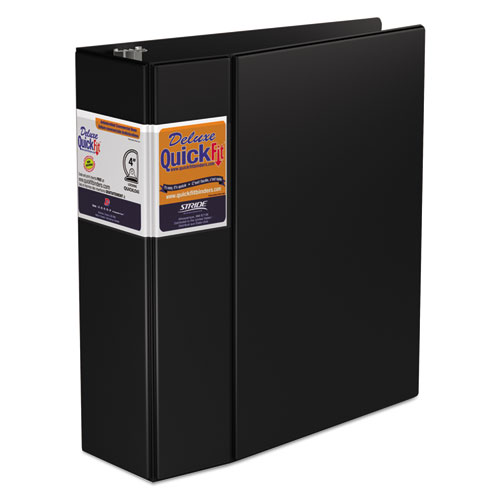 QUICKFIT D-RING BINDER, 3 RINGS, 4