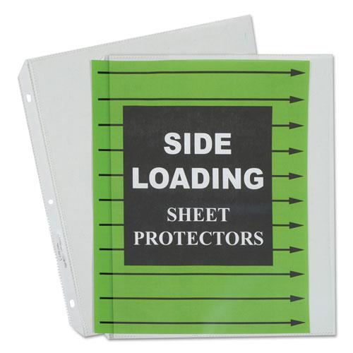 SIDE LOADING POLYPROPYLENE SHEET PROTECTORS, CLEAR, 2