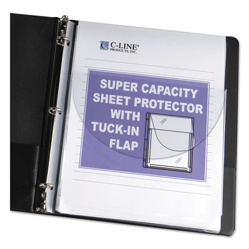 SUPER CAPACITY SHEET PROTECTORS WITH TUCK-IN FLAP, 200