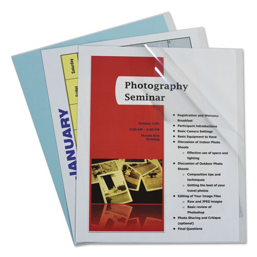 Report Covers, Vinyl, Clear, 8 1/2 X 11, 100/bx