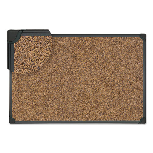 Tech Cork Board, 48 X 36, Cork, Black Frame