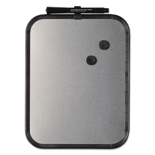 Magnetic Dry Erase Board, 11 X 14, Black Plastic Frame