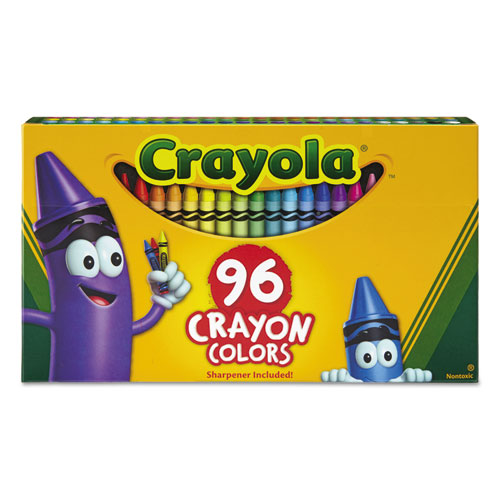 Image for Classic Color Crayons In Flip-Top Pack With Sharpener, 96 Colors