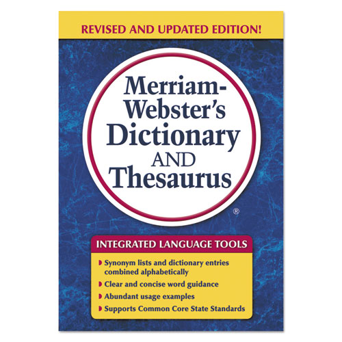 Image for Merriam-Webster's Dictionary And Thesaurus, 992 Pages