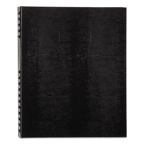 NOTEPRO NOTEBOOK, 1 SUBJECT, MEDIUM/COLLEGE RULE, BLACK COVER, 11 X 8.5, 100 SHEETS