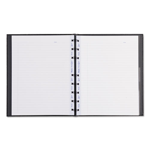 MIRACLEBIND NOTEBOOK, 1 SUBJECT, MEDIUM/COLLEGE RULE, BLACK COVER, 9.25 X 7.25, 75 SHEETS