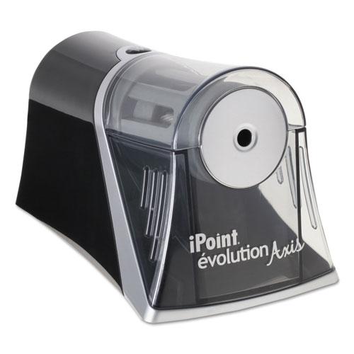 IPOINT EVOLUTION AXIS PENCIL SHARPENER, BLACK/SILVER, 4 1/4 W X 7D X 4 3/4H