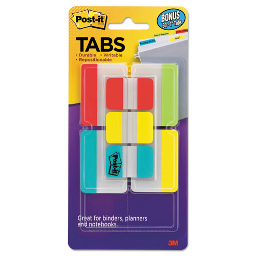 TABS VALUE PACK, 1/5-CUT AND 1/3-CUT TABS, ASSORTED COLORS, 1