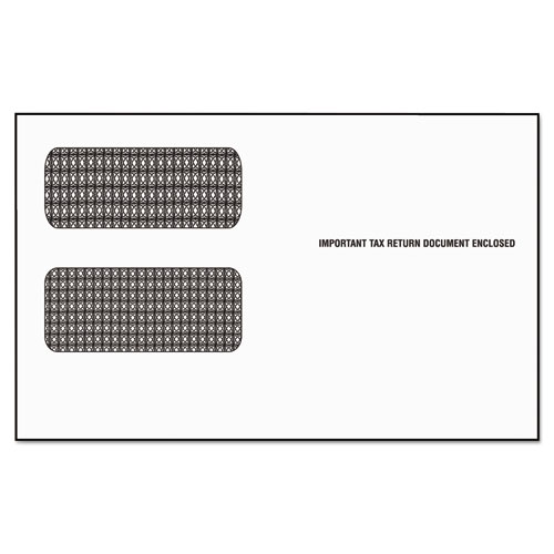 Image for 1099 DOUBLE WINDOW ENVELOPE, COMMERCIAL FLAP, SELF-ADHESIVE CLOSURE, 5.63 X 9.5, WHITE, 24/PACK