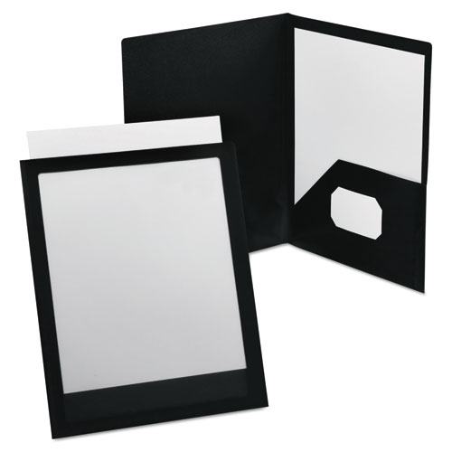 VIEWFOLIO POLYPROPYLENE PORTFOLIO, 100-SHEET CAPACITY, BLACK/CLEAR