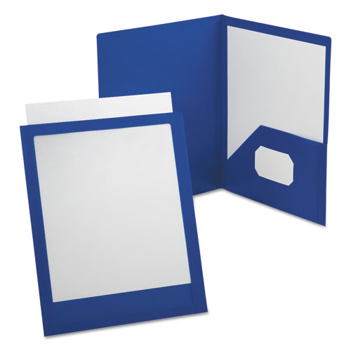 VIEWFOLIO POLYPROPYLENE PORTFOLIO, 100-SHEET CAPACITY, BLUE/CLEAR