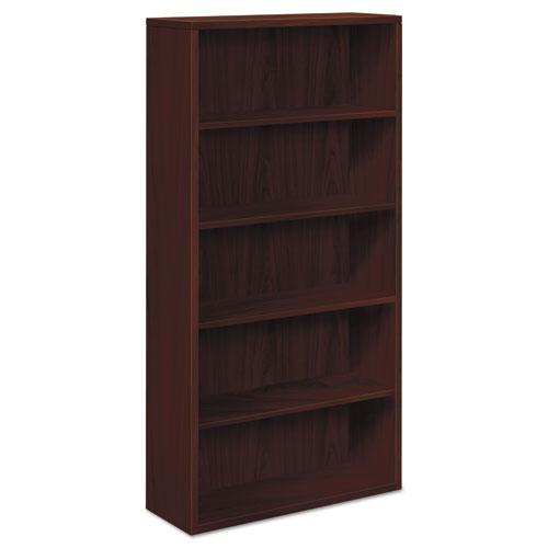 Image for 10500 Series Laminate Bookcase, Five-Shelf, 36w X 13-1/8d X 71h, Mahogany
