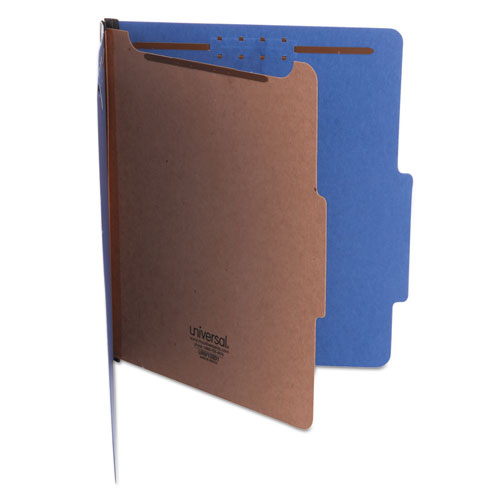 BRIGHT COLORED PRESSBOARD CLASSIFICATION FOLDERS, 1 DIVIDER, LETTER SIZE, COBALT BLUE, 10/BOX