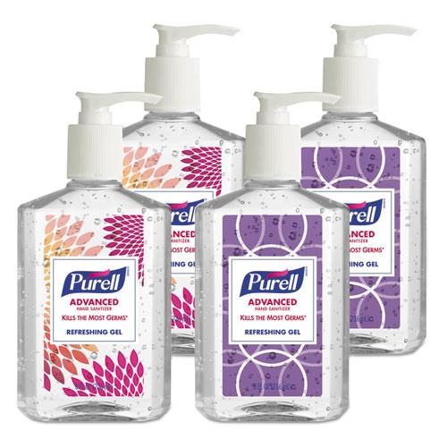 Advanced Hand Sanitizer Refreshing Gel, Clean Scent, 8 Oz Pump Bottle 4/pack