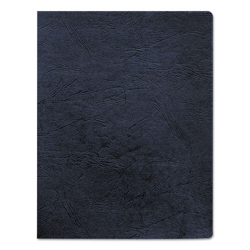 Image for Classic Grain Texture Binding System Covers, 11-1/4 X 8-3/4, Navy, 200/pack