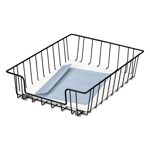 WIRE DESK TRAY ORGANIZER, 1 SECTION, LETTER SIZE FILES, 10