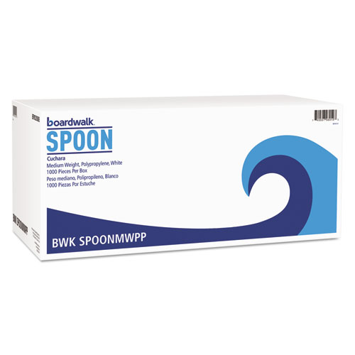 MEDIUMWEIGHT POLYPROPYLENE CUTLERY, TEASPOON, WHITE, 1000/CARTON