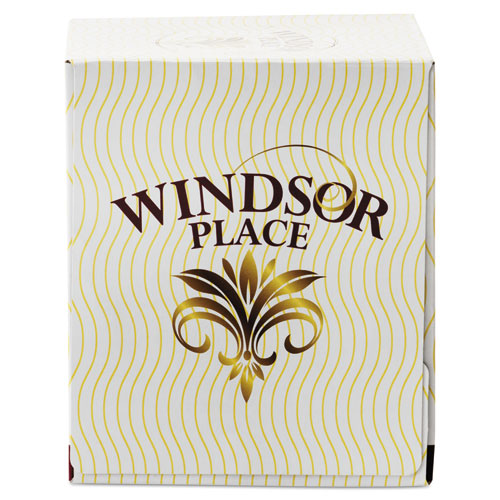 Image for WINDSOR PLACE CUBE FACIAL TISSUE, 2-PLY, WHITE, 85 SHEETS/BOX, 30 BOXES/CARTON