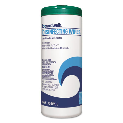 Image for Disinfecting Wipes, 8 X 7, Fresh Scent, 35/canister, 12 Canisters/carton