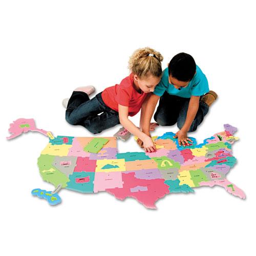Image for Wonderfoam Giant U.s.a Puzzle Map, 73 Pieces