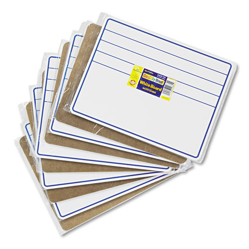 DRY-ERASE STUDENT BOARDS, 12 X 9, BLUE/WHITE, 10/SET