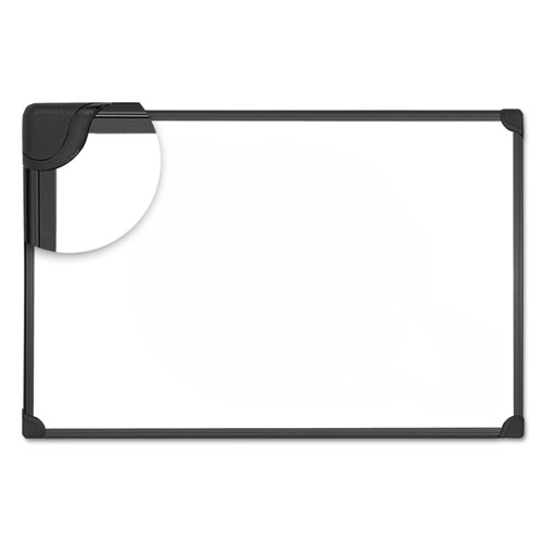 Design Series Magnetic Steel Dry Erase Board, 48 X 36, White, Black Frame