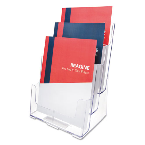 Image for 3-COMPARTMENT DOCUHOLDER, MAGAZINE SIZE, 9.5W X 6.25D X 12.63, CLEAR