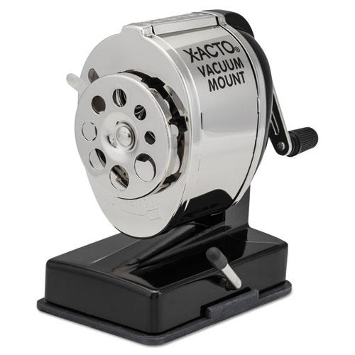 Ks Manual Vacuum Mount Classroom Pencil Sharpener, Black/nickel-Plated