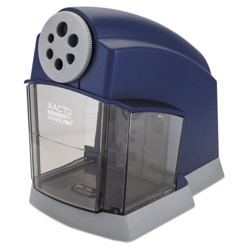 SCHOOL PRO CLASSROOM ELECTRIC PENCIL SHARPENER, AC-POWERED, 4.5