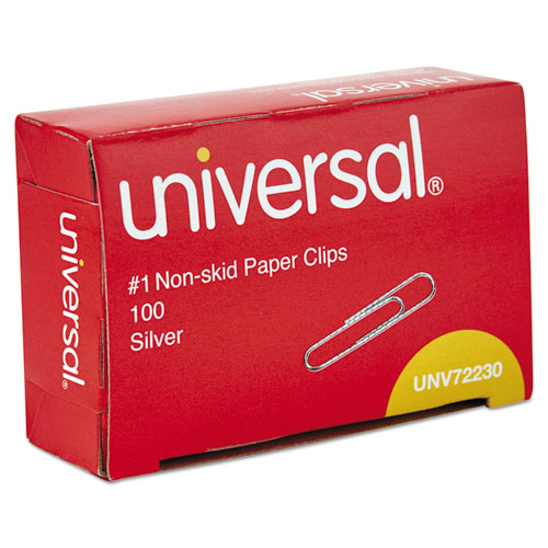 PAPER CLIPS, SMALL (NO. 1), SILVER, 100 CLIPS/BOX, 10 BOXES/PACK
