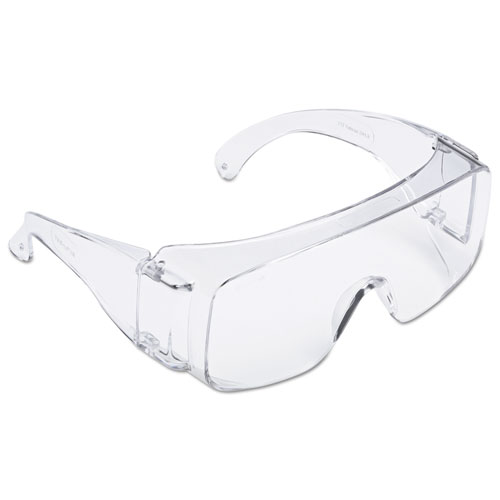 3M Tour-guard V Protective Eyewear - Medium Size - Ultraviolet Protection - Polycarbonate Lens, Polycarbonate Frame - Clear, Clear - 20 / Box