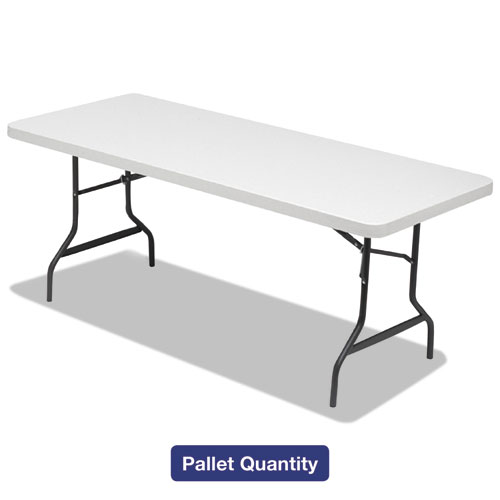 Image for Folding Table, 72w X 30d X 29h, Platinum/charcoal, 15/pallet