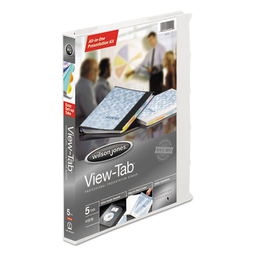 VIEW-TAB PRESENTATION ROUND RING VIEW BINDER WITH TABS, 3 RINGS, 0.63