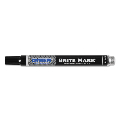 BRITE-MARK PAINT MARKERS, MEDIUM BULLET TIP, BLACK