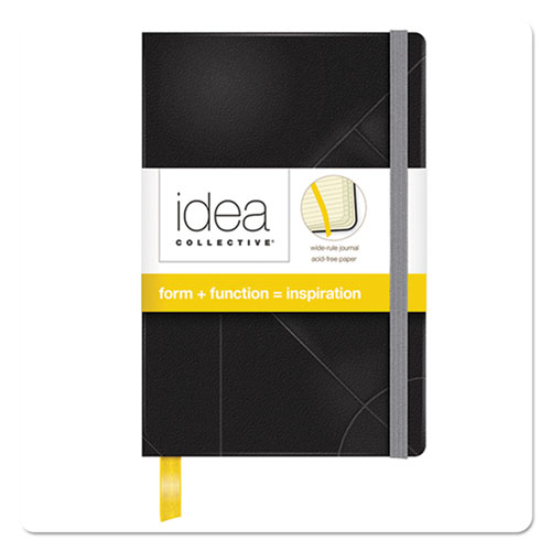 IDEA COLLECTIVE JOURNAL, WIDE/LEGAL RULE, BLACK COVER, 5.5 X 3.5, 96 SHEETS